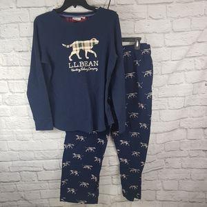 L.L.Bean Youth Thermal & Flannel PJ Set